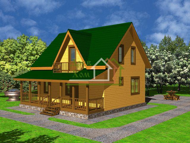 Дома из бруса 7х9 - проекты, цены, фото, строительство под у.