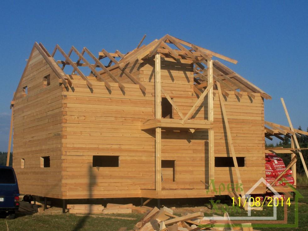 Своими руками строим брусовый дом